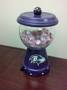 Baltimore Ravens NFL Candy Jar. $24.95, via Etsy.
