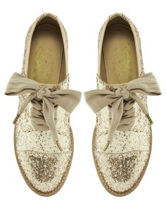 F-Troupe | F-Troupe Glitter Lace Up Shoes at ASOS