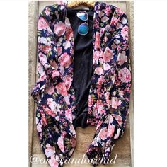 BOGO Floral Print Kimono - 2 LEFT! Lovely navy, floral print kimono style open cardigan! Brand new with tags! One size fits most. Please do NOT purchase this listing! Comment below and I will create you a separate listing, thanks! 15% discount on bundles. No PayPal or trades. 2xHP Pretty, Flirty & Girly Party 7/31 & Weekend Warrior Party 8/8 boutique Tops