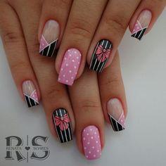 40 English nail patterns and pictures Rose Gold Nails, Pink Nails, Cute Acrylic Nails, Gel Nail Art, Toe Nails, Nail Manicure, Nail Dipping Powder Colors, Nail Tip Designs, Bridal Nail Art