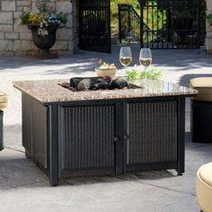 Uniflame Granite Table Propane Fire Pit