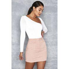 'Be Seen' Pink Corduroy Mini Skirt - Mistress Rocks ($54) ❤ liked on Polyvore featuring skirts, mini skirts, corduroy skirt, short skirts, stretchy skirts, rock skirting and short miniskirt