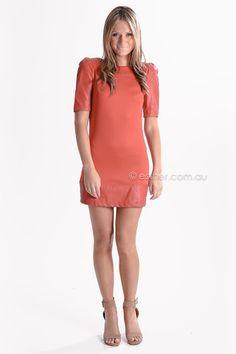 gweneth tunic/dress - red