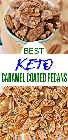 Low Carb Keto Caramel Coated Pecans Idea – Sugar Free – Quick & Easy Ketogenic Diet Recipe – Completely Keto Friendly – Foods And Drink Keto Desserts, Keto Snacks, Dessert Recipes, Fruit Dessert, Keto Friendly Desserts, Low Carb Diets, Snacks Für Party, Party Appetizers, Sugar Free Quick