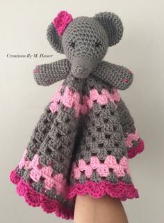 Elephant Lovey Made To Order by CreationsByMHaner on Etsy
