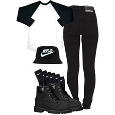 Bobby Bish!! by simoneswagg on Polyvore featuring Dr. Denim, Timberland and NIKE