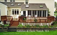 Shed roof addition and deck in Natick, MA