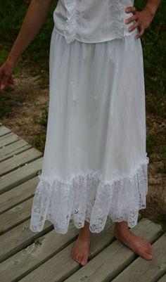White Batiste Skirt