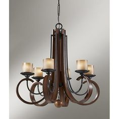 Murray Feiss Madera 6-Light Single Tier Chandelier MF-F2590-6AF-AGW $999.00