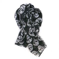 Skull Scarf-Black