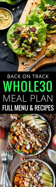 Whole30 meal plan that's quick and healthy! A comp…
