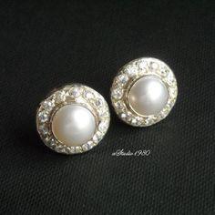 Bridal Pearl earrings stud earrings