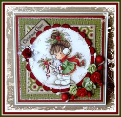 """""""Berry """" designed by Sylvia Zet © Wee Stamps for Whimsy Stamps Deeply etched rubber mounted on cling cushion foam, untrimmed. Christmas Cards 2018, Xmas Cards, Holiday Cards, Whimsy Stamps, Beautiful Handmade Cards, Christmas Scrapbook, Winter Cards, Card Making Inspiration, Pretty Cards"""