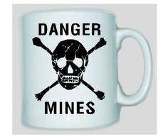Tasse Danger Mines / mehr Infos auf: www.Guntia-Militaria-Shop.de