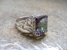 New Sterling Silver Antique Filigree Ring by silverfoxjewelers, $86.00