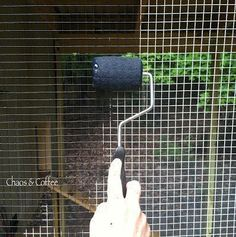 Chaos and Coffee: Paint the hardware wire so the silver metal disappears. #raisingchickens