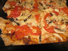 Recept na domácí celozrnnou vegan pizzu. Pryč s bílou moukou! Vegetable Pizza, Menu, Vegetables, Fit, Menu Board Design, Shape, Vegetable Recipes, Veggies