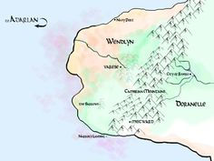 Map of Wendlyn and Doranelle (Throne of Glass series by Sarah J. Maas)
