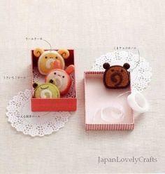 Wool Felt Mascots of Animals plus Sweets - Japanese Craft Pattern Book - Needle Felts - Chiku Chiku - B624. $23.50, via Etsy.