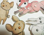 Woodland Animal Paper Dolls Puppets Patterns, Articulated Mechanical Animals, Fox Rabbit Easter Bunny Bear Printable Digital Downloadable