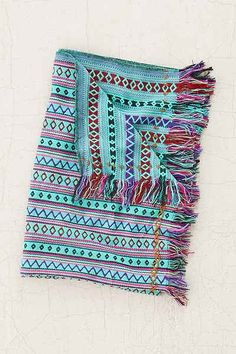 Mantita Embroidered Throw Blanket - Urban Outfitters