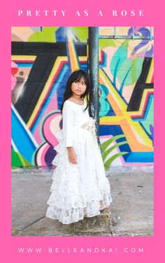 08cdbc72063 Endless ruffles in the vintage inspired Pretty as a Rose dress. For flower  girls