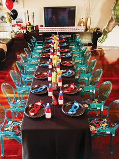 Avengers Inspired Superhero Birthday Bash: The Chairs
