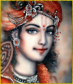 """✨ SHRI KRISHNA ✨ Artist: Mahendra Dubey Lord Brahma said:""""O Supreme Personality of Godhead, all glories unto You, who are glorified by all and whose activities are all uncommon. I offer my respectful. Krishna Leela, Baby Krishna, Jai Shree Krishna, Cute Krishna, Radha Krishna Photo, Radha Krishna Love, Radhe Krishna, Radha Radha, Krishna Flute"""