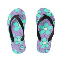 185ed8b1ce4855 Colorful Fun Bright Flower Design Kid s Flip Flops  kidsflipflops  flipflops   thongs  kids