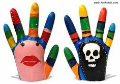 plaster a paris and a rubber glove
