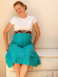 diy maternity empire skirt refashion