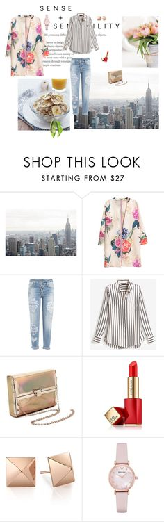 """Breakfast in the City"" by fuffa ❤ liked on Polyvore featuring H&M, Dsquared2, White House Black Market, Estée Lauder and Emporio Armani"