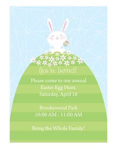 Planning a Neighborhood Easter Egg Hunt, Plus a Free Printable Invitation - SNAP!