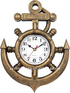 anchor art wall clock #wantthis