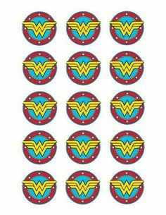 Wonder Woman edible cupcake toppers by jhstoppers on Etsy Wonder Woman Birthday, Wonder Woman Party, Wonder Woman Logo, Superhero Birthday Party, Birthday Party Themes, 4th Birthday, Birthday Ideas, Anniversaire Wonder Woman, Edible Cupcake Toppers