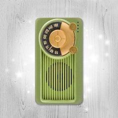 Vintage Bakelite Radio Green Gadget Personalized by Lantadesign
