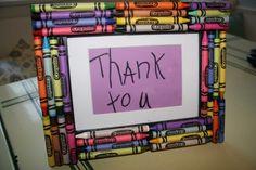 Portarretratos con crayolas
