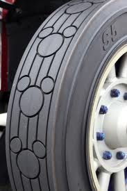 Tire with Mickey Mouse