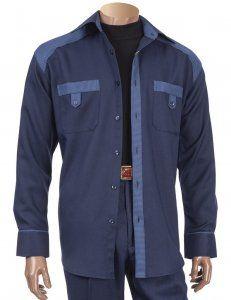 eec61df89e5 Giorgio Inserti Navy Blue   Denim Blue Houndstooth Outfit   Elbow Patches  143