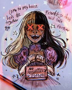 k 12 album fanart Mel Martinez, Melanie Martinez Anime, Melanie Martinez Drawings, Crybaby Melanie Martinez, Cry Baby, Cool Art Drawings, Art Sketches, Aesthetic Art, Aesthetic Anime