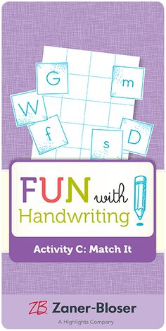 Free downloadable directions for a letter learning game. Ideal for students in kindergarten through grade 2. Easy to make, fun to play! Letter Learning Games, Zaner Bloser Handwriting, Handwriting Activities, Grade 2, In Kindergarten, Literacy, Preschool, Students, Layout