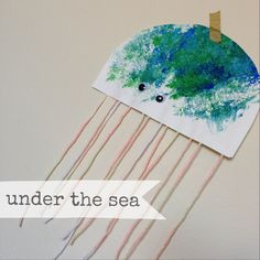 WEEKLY TODDLER THEME (UNDER THE SEA): Book- If You Want to See a Whale...Bible Story- Jonah & the Whale...Art Project- sponge paint jelly fish...Activity- fish flannel board...Songs- Baby Beluga & Down By the Bay (both by Raffi)...Outing- Aquarium