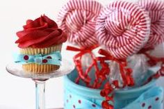 Red and Aqua Baby shower