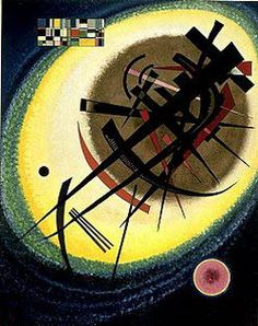 Painter Wassily Kandinsky. In the Bright Oval. 1925
