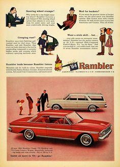 Ad 1964 Rambler Classic 770 Hardtop Cross Country Wagon - ORIGINAL TM7
