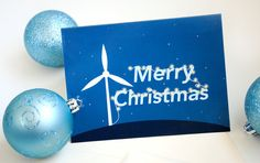 Wind turbine Christmas card