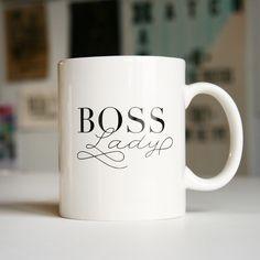 Boss Lady Mug   Steel Petal Press