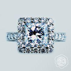 Never be afraid to shine. Tacori ring, in Platinum