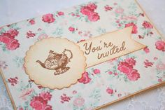 Tea Party Bridal Shower Invitations by OnTheWingsPaperie on Etsy, $3.75