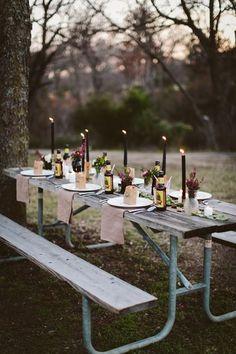 picnic table wedding inspiration